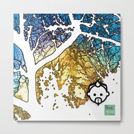 Snowburst by JC LOGAN 4 SB Metal Print