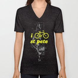 I Bike St. Pete Unisex V-Neck