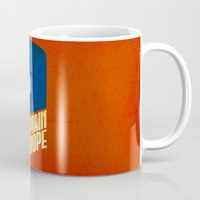 europe Mugs featuring Captain Europe by Robert Farkas