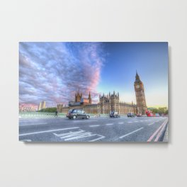 Westminster Bridge Early Evening Metal Print