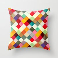 colorful Throw Pillows featuring Pass this On by Danny Ivan