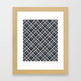 Squares and rectangles under the slope, checkered pattern. Framed Art Print
