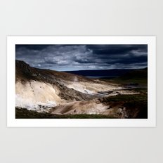 geothermal activity Art Print
