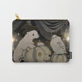halloween polar bear and white owl Carry-All Pouch