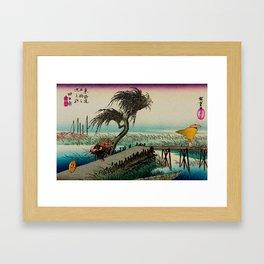 Yokkaichi - Vintage Japanesse Ukiyo e Art Framed Art Print