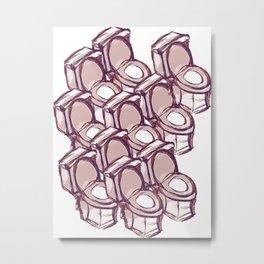 TOILET THEATHRE  Metal Print