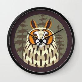Long-eared Owl Wall Clock