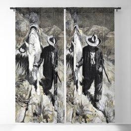 12,000pixel-500dpi - Follerin' the Tracks - William Herbert Dunton Blackout Curtain