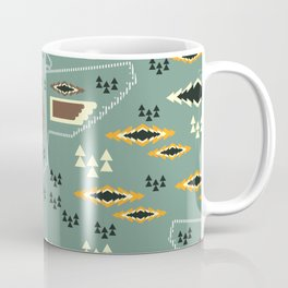 Native pattern with birds Coffee Mug