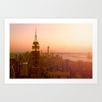 Empire State Building, Manhattan, NYC Skyline, I Love New York, Cityscape Art Print