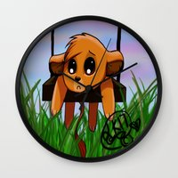 simba Wall Clocks featuring Chibi Simba by LK17