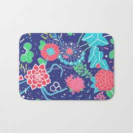 Flowers and Cactus Bath Mat