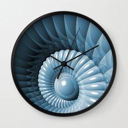 Abstract 3D Nautilus Wall Clock