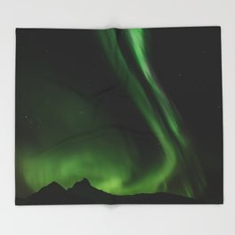 Northern Lights in Norway 05 Throw Blanket