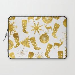 Gold Christmas 06 Laptop Sleeve