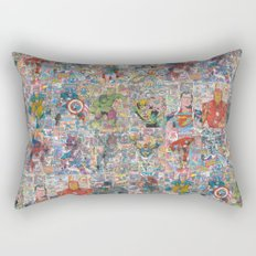 Vintage Comic Superheroes Galore (Limited Time) Rectangular Pillow