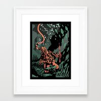 diver Framed Art Prints featuring Diver by Rafael T. Pimentel