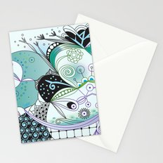 Winter tangle Stationery Cards