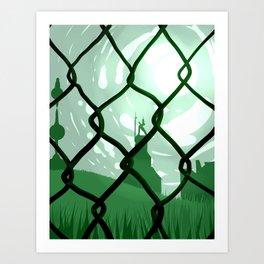 Across. Art Print