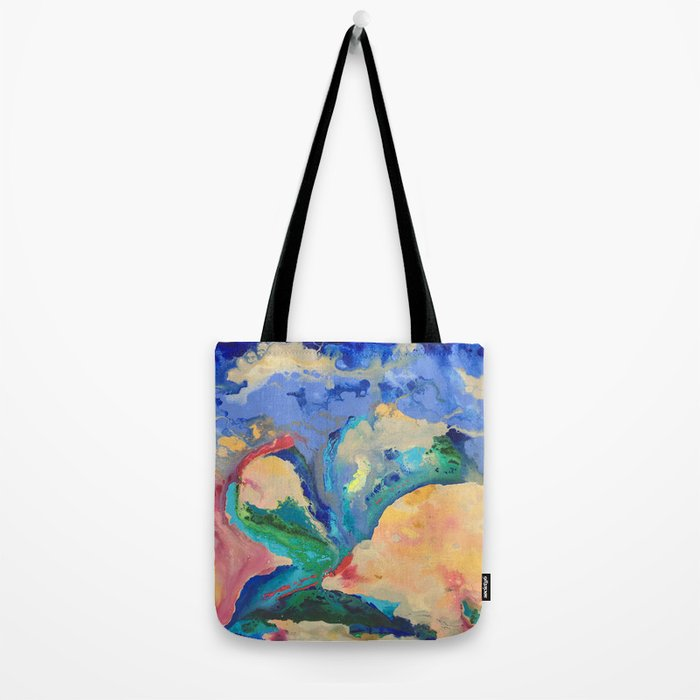 Watercolor Series (Exploding Flower) Tote Bag