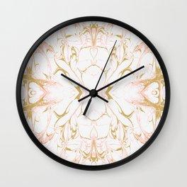 Pink mosaic marble Wall Clock