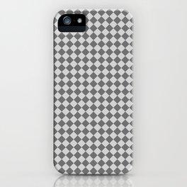 Light Gray and Dark Gray Diamonds iPhone Case
