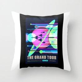 Grand Tour - NASA Space Travel Poster (Alternative) Throw Pillow