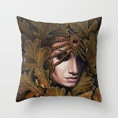Mabon - goddess of fall Throw Pillow