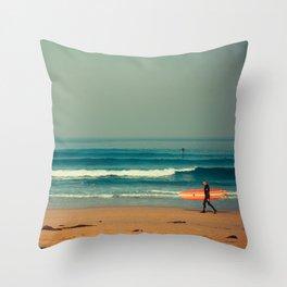 Gunnamatta Red Surf Throw Pillow