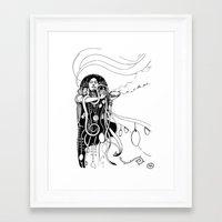 klimt Framed Art Prints featuring Klimt reloaded by Riccardo Fortuna