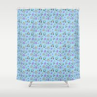 robots Shower Curtains featuring Robots by TheYUCK