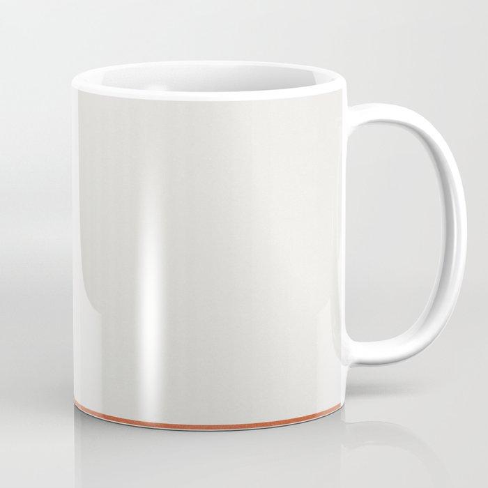 Burnt Orange Color Block Coffee Mug