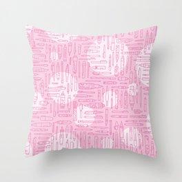 Pink Pens Throw Pillow