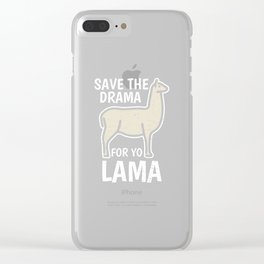 Lama LLama Alpaca Spit Girl Girl Clear iPhone Case