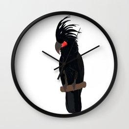 Palm cockatoo bird Wall Clock