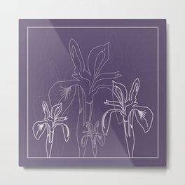 Baesic Purple Iris Metal Print