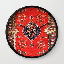 Bijar Kurdish Northwest Persian Kilim Print Wall Clock