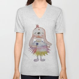 MC Lucky Bunny(white) Unisex V-Neck
