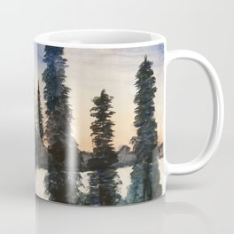 In the Midst of Winter | Bob Ross Reproduction | Watercolour Painting Coffee Mug