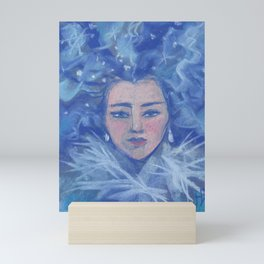 Snowgirl, Christmas &  New Year Mini Art Print