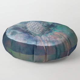 Lunar Goddess Mandala Floor Pillow