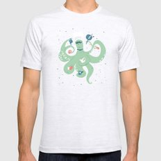 The Octopus Chef Ash Grey SMALL Mens Fitted Tee