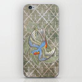 Sparrow tattoo iPhone Skin