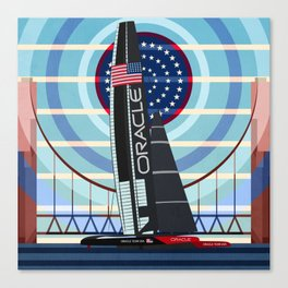 Never Give Up ! Oracle Team USA America's Cup Canvas Print