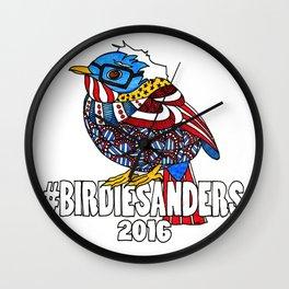Bernie Sanders Bird!  Birdie Sanders!  Feel The Bern Wall Clock