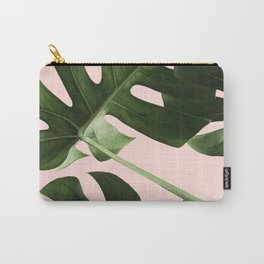 Monstera x Pink Carry-All Pouch