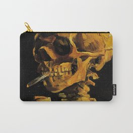 Van Gogh, Skull of a Skeleton with Burning Cigarette  – Van Gogh,Vincent Van Gogh,impressionist,post Carry-All Pouch