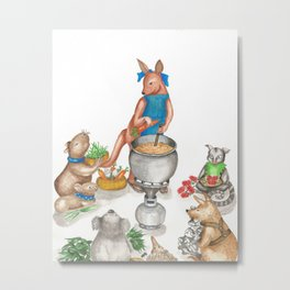 Too Many Cooks Make a Powerful Broth Metal Print