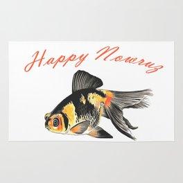 Happy Nowruz Demekin Goldfish Persian New Year Rug