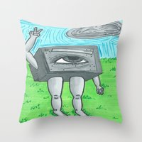 technology Throw Pillows featuring Technology life by Diane McGregor Art